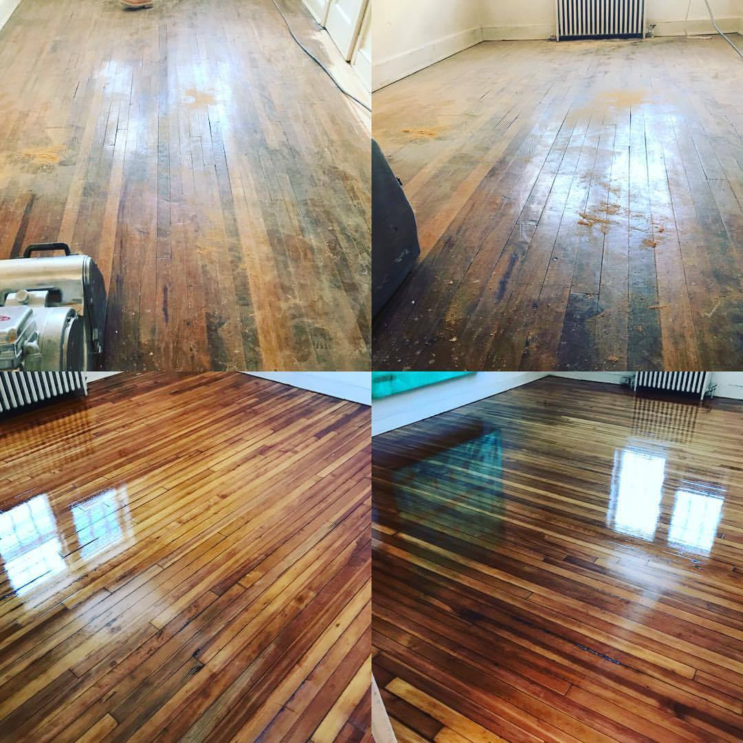 Before After Pine Floor Refinish By Atlas Wood Floors Inc