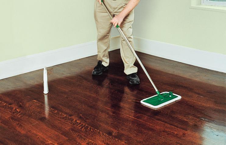 step one clean the wood floor